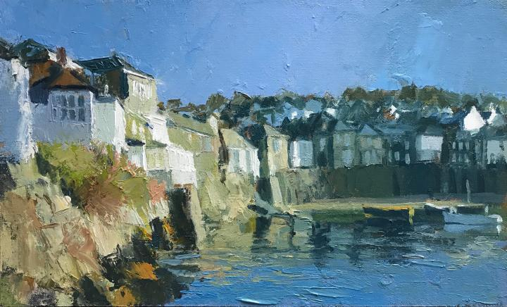 Neil Pinkett, Cornwall, Mousehole, Art, Gallery, Cape, Cornwall, Sennen, Oil, On, Board
