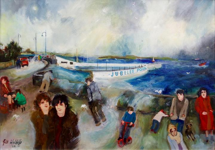 gill, watkiss, mousehole, cornwall, art, painting, oil, on, canvas, st.Ives, artist