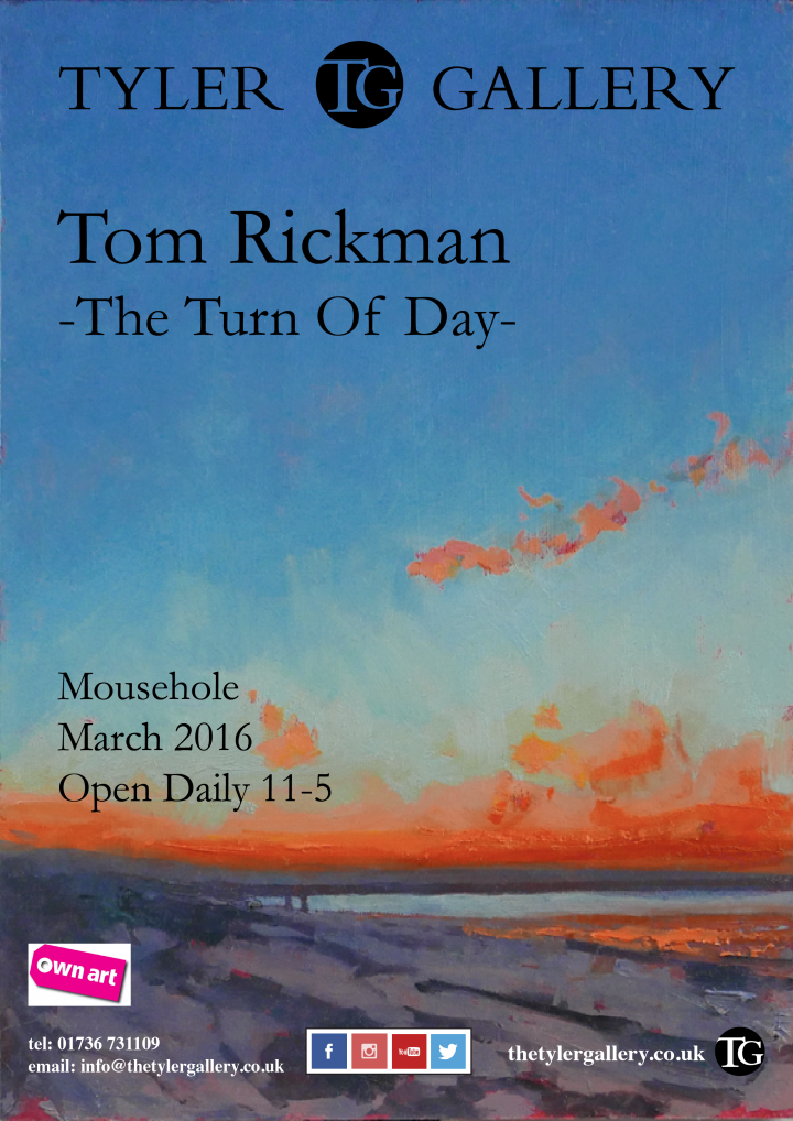 tom, rickman, cornwall, mousehole, art, gallery, painting, west, penwith